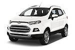 2015 Ford ECOSPORT TITANIUM 5 Door SUV Angular Front stock photos of front three quarter view