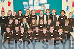 HOMEWORK: Lissivigeen junior infants enjoying their first day at school on Monday. Front row l-r: Sean Foley, Bailey O'Sullivan, Sam Casey, Cael O'Flaherty, Aidan Keane, Dion O'Neill, Jack O'Connell and Bharragh O'Shea. Middle row l-r: Eilish Casey, Jessica Hobbs, Alice O'Donoghue, Naoise O'Shea, Mariya Casey, Ciara Moynihan, Nathan Moynihan and Ben Cussen. Back row l-r: David Randles, Isabel Stack, Eve Looney, Kate Lynch, Alicia O'Sullivan, Lynda Taylor, Shauna Summers, Marie Courtney, Grace Courtney, Julia Olabode and Joshua Lyne