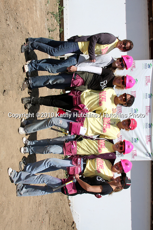 Crystal Chappell, Kimberly Matula, Alley Mills, Nadia Bjorlin, Arianne Zucker, Molly Burnett, Judi Evans, Sarah Brown.at the Habitat For Humanity San Fernando/Santa Clarita  Valleys Women Empowerment Building Site - TV & Soap Stars.Habitat for Humanity build site, 12600 Carl St..Pacoima, CA.May 23, 2010.©2010 Kathy Hutchins / Hutchins Photo..