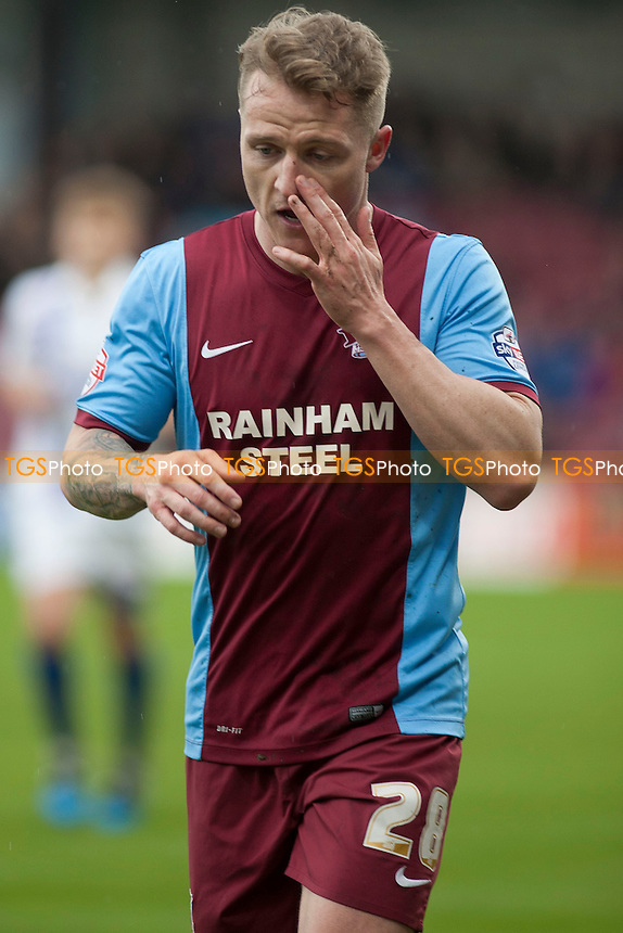 Gary McSheffrey of Scunthorpe United<br />  - Scunthorpe United vs Gillingham - Sky Bet League One Football at Glanford Park, Scunthorpe, Lincolnshire - 25/04/15 - MANDATORY CREDIT: Mark Hodsman/TGSPHOTO - Self billing applies where appropriate - contact@tgsphoto.co.uk - NO UNPAID USE