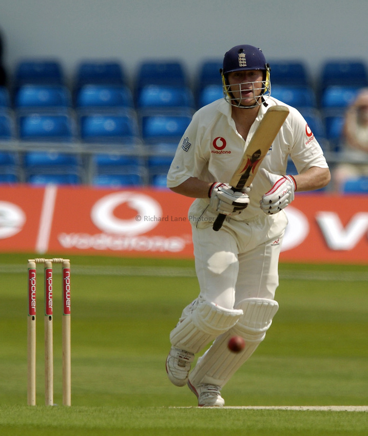 Photo. Jed Wee..England v New Zealand, Day Four 2nd nPower Test, 06/06/2004..England's Andrew Flintoff.
