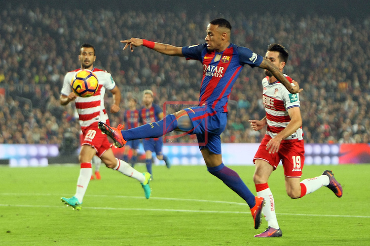 League Santander 2016/2017. Game: 10.<br /> FC Barcelona vs Granada CF: 1-0.<br /> Neymar Jr.