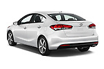 Car pictures of rear three quarter view of 2018 KIA Forte EX-AT 4 Door Sedan Angular Rear