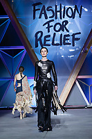 Erin O'Connor walks the runway during Fashion For Relief Cannes 2018 during the 71st annual Cannes Film Festival at Aeroport Cannes Mandelieu on May 13, 2018 in Cannes, France.<br /> CAP/NW<br /> &copy;Nick Watts/Capital Pictures