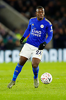 4th January 2020; King Power Stadium, Leicester, Midlands, England; English FA Cup Football, Leicester City versus Wigan Athletic; Nampalys Mendy of Leicester City on the ball - Strictly Editorial Use Only. No use with unauthorized audio, video, data, fixture lists, club/league logos or 'live' services. Online in-match use limited to 120 images, no video emulation. No use in betting, games or single club/league/player publications