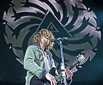 Soundgarden lead singer Chris Cornell performs during their set at the 2012 KROQ Weenie Roast y Fiesta at Verizon Wireless Amphitheater in Irvine.