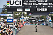 9th September 2017, Smithfield Forest, Cairns, Australia; UCI Mountain Bike World Championships; Jolanda Neff (SUI) riding for Kross Racing Team wins the elite womens cross country race;