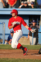 Batavia Muckdogs outfielder Ross Smith (2) during a game vs. the Auburn Doubledays at Dwyer Stadium in Batavia, New York June 19, 2010.   Batavia defeated Auburn 2-1.  Photo By Mike Janes/Four Seam Images