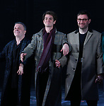 Nathan Lane, Andrew Garfield, James McArdle during the 'Angels in America' Broadway Opening Night Curtain Call Bows at the Neil Simon Theatre on March 25, 2018 in New York City.