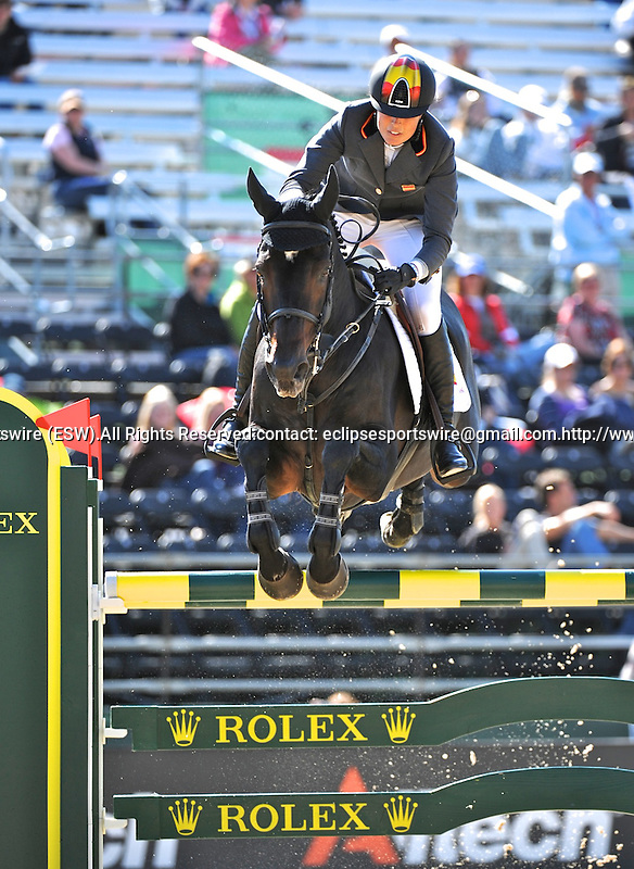 6 October 2010: Pilar Lucrecia Cordon Munro (ESP) and Herald compete during Show Jumping in the World Equestrian Games in Lexington, Kentucky