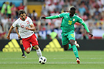 19th June 2018, Spartak Stadium, Moscow, Russia; FIFA World Cup Football, Group H, Poland versus Senegal; Grzegorz Krychowiak, Mbaye Niang fight for the ball