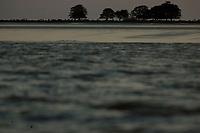 Na foz do Amazonas, fazendas com búfalos  criados em  em campos naturais alagados boa parte do ano, chuvas pesadas e ausência, de pessoas predominam nesta região, onde o Amazonas leva sedimentos ao mar criando grandes manguezais nos litorais da região, em um dos últimos pedaços de terra no Marajó ao se encontrar com o mar.<br /> Caviana, município de Chaves, Marajó , Pará, Brasil.<br /> Foto Paulo Santos<br /> 16 a 19 /06/2011