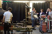 Open day, guided tour in the forge, 3D Design dept., University College for the Creative Arts, Farnham.