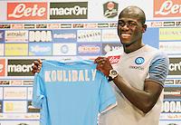 Napoli Calcio ritiro precampionato a Dimaro ( TN)  18 Luglio 2014<br /> nella foto  conferenza stampa  Kalidou Koulibaly <br /> Napoli soccer pre season summer training in Dimaro