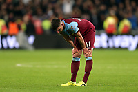 A dejected Declan Rice after West Ham United vs Crystal Palace, Premier League Football at The London Stadium on 5th October 2019