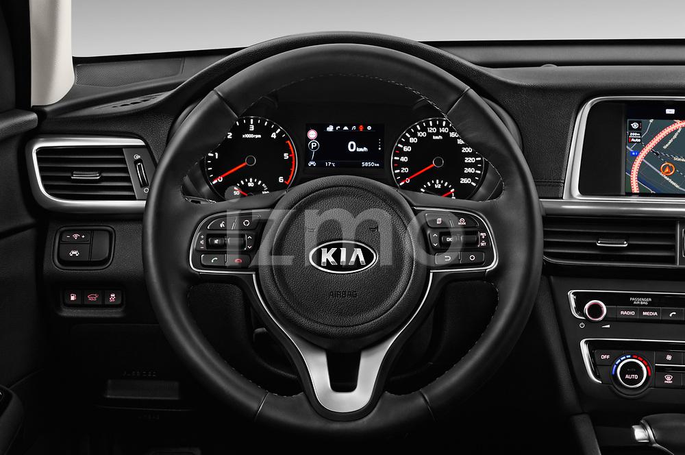 Car pictures of steering wheel view of a 2017 KIA Optima-Sportswagon Fusion 5 Door Wagon Steering Wheel