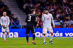 Isco Alarcon of Spain (R) talks to Nicolas Tagliafico of Argentina (L) during the International Friendly 2018 match between Spain and Argentina at Wanda Metropolitano Stadium on 27 March 2018 in Madrid, Spain. Photo by Diego Souto / Power Sport Images