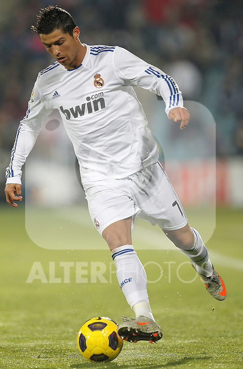 Real Madrid's Cristiano Ronaldo during la Liga match on January 3rd 2011...Photo: Cesar Cebolla / ALFAQUI