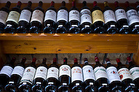 Fine wines, Chateau Pavie, La Gaffeliere, Chateau Guadet, Chateau Beausejour on sale in Ets Martin in St Emilion, Bordeaux, France