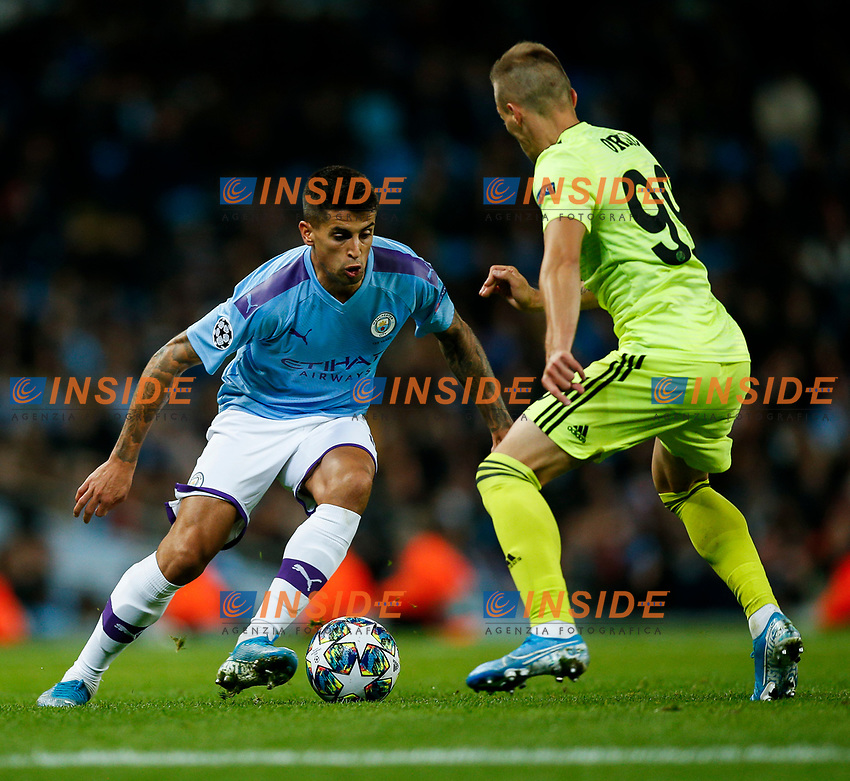 Joao Cancelo of Manchester City and Mislav Orsic of Dinamo Zagreb during the UEFA Champions League Group C match between Manchester City and Dinamo Zagreb at the Etihad Stadium on October 1st 2019 in Manchester, England. (Photo by Daniel Chesterton/phcimages.com)<br /> Foto PHC/Insidefoto <br /> ITALY ONLY