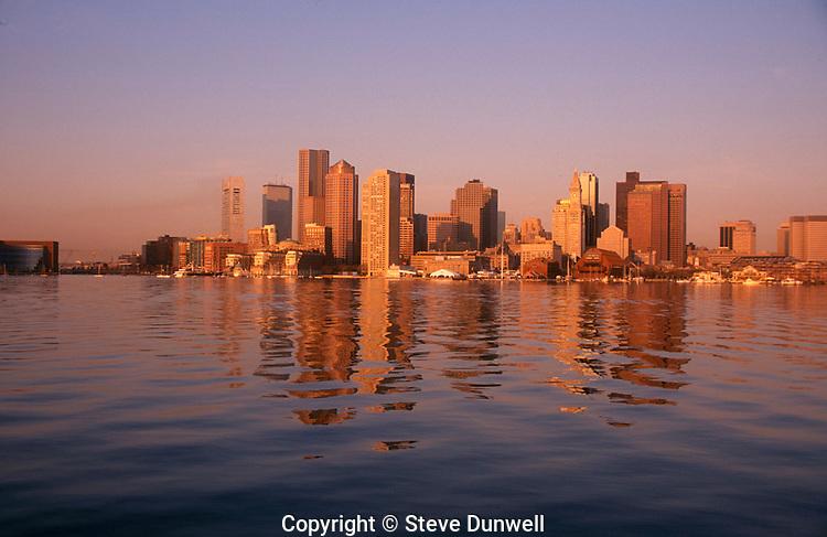 Skyline sunrise from East Boston, MA