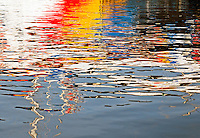 """Watercolors"" reflections on water"