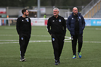 Oldham Manager, Frankie Bunn, walks around the ground ahead of kick-off during Maidstone United vs Oldham Athletic, Emirates FA Cup Football at the Gallagher Stadium on 1st December 2018