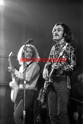 Creedence Clearwater Revival  1970  Tom Fogerty and Stu Cook at  RoyalAlbert Hall