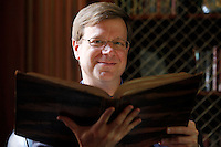 Michael F. Suarez, S.J. is the director of the rare Book School at the University of Virginia in Charlottesville, Va. The school hosts an annual summer camp for scholars and other professionals who work with rare books. Photo/Andrew Shurtleff