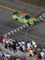 Jul. 5, 2008; Daytona Beach, FL, USA; NASCAR Sprint Cup Series driver Kyle Busch during the Coke Zero 400 at Daytona International Speedway. Mandatory Credit: Mark J. Rebilas-