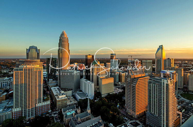 Photography of the Charlotte North Carolina skyline.<br /> <br /> <br /> Charlotte Photographer - PatrickSchneiderPhoto.com