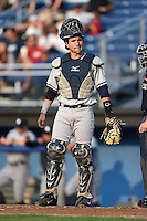 Staten Island Yankees catcher Luis Torrens (57) during a game against the Batavia Muckdogs on August 6, 2014 at Dwyer Stadium in Batavia, New York.  Batavia defeated Staten Island 5-3.  (Mike Janes/Four Seam Images)