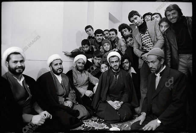 A study room at the mosque. Qom, January 23, 1979