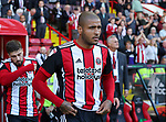 Leon Clarke of Sheffield Utd during the English championship league match at Bramall Lane Stadium, Sheffield. Picture date 5th August 2017. Picture credit should read: Jamie Tyerman/Sportimage