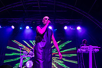 Philip Oakey of The Human League performing during AmpRocks 2017, part of Ampthill Festival, at Ampthill Great Park, Ampthill, England on 30 June 2017. Photo by David Horn.