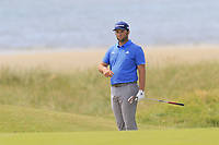 Jon Rahm (ESP) at the 6th green during Thursday's Round 1 of the Dubai Duty Free Irish Open 2019, held at Lahinch Golf Club, Lahinch, Ireland. 4th July 2019.<br /> Picture: Eoin Clarke | Golffile<br /> <br /> <br /> All photos usage must carry mandatory copyright credit (© Golffile | Eoin Clarke)