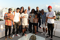 MIAMI BEACH, FL - OCTOBER 05: Join Hart, That Girl Lay Lay, Iceberg Slimm, Ghazi Shami, Mazzi, Mozzy and YFN Lucci pose for a portrait during the Empire Records DJ party held at Skydeck on October 5, 2018 in Miami Beach, Florida. <br /> CAP/MPI04<br /> &copy;MPI04/Capital Pictures