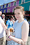 FALLING IN LOVE:  Young Anna McGrath from Headford get up close and personal with a delightful little puppy as Kenmare's annual Fair Day saw animals becoming a major part of the attractions once again.