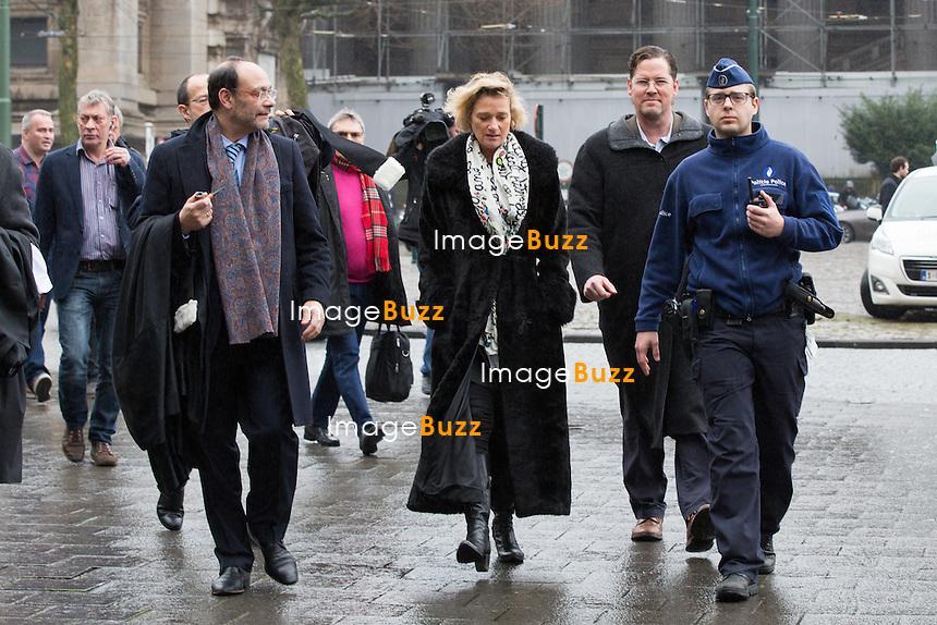 Delphine Bo&ecirc;l devant la 12e chambre du tribunal civil de Bruxelles pour une proc&eacute;dure en contestation de paternit&eacute; de Jacques Bo&euml;l, son p&egrave;re l&eacute;gal, et une proc&eacute;dure en reconnaissance de paternit&eacute; du roi Albert II de Belgique. Delphine Bo&euml;l dit &ecirc;tre la fille d'Albert II avec qui sa m&egrave;re, Sybille de Selys Longchamps, a eu une liaison entre 1966 et 1984. L'affaire a &eacute;t&eacute; prise en d&eacute;lib&eacute;r&eacute; et le jugement devrait &ecirc;tre rendu dans le d&eacute;lai l&eacute;gal d'un mois, selon les avocats.<br /> Belgian artist Delphine Boel pictured during the convocation of King Albert II, in the double case of Delphine Boel who contests the paternity of her father Jacques Boel and asks for the recognition of the paternity of King Albert II of Belgium, at the Brussels Trial Court of First Instance, Tuesday 21 February 2017, in Brussels. Boel intends to prove she is Albert II's biological <br /> Belgium, Brussels, 21 st February.