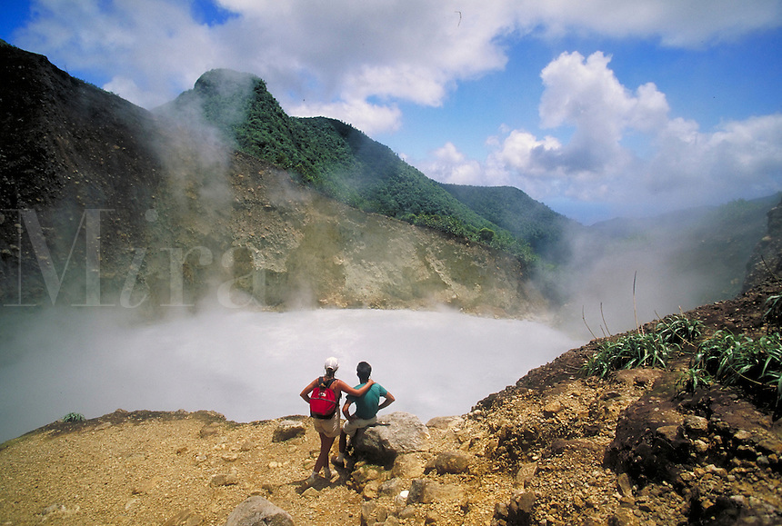 Boiling Lake (Fumarole ), Morne Triois Pitons National Park, island of Dominica , West Indies. Morne Triois Pitons Nat. Pk., Dominica West Indies.
