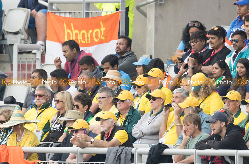 These folk may have turned up two days early? during India vs New Zealand, ICC World Cup Semi-Final Cricket at Old Trafford on 9th July 2019