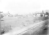 D&amp;RGW Chama eating house and hotel just north of the depot.  Church on Terrace Avenue.<br /> D&amp;RG  Chama, NM  ca. 1905