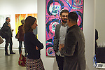 Atmosphere at the David J. Sobaski-Marchi art reception at Agora Gallery located at 530 West 25 Street New York, NY, on December 7, 2015.