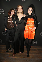 WEST HOLLYWOOD, CA - JANUARY 9: Aubrey Peeples, Sarah Dugdale, Morgan Taylor Campbell, at the Lifetime Winter Movies Mixer at Studio 4 at The Andaz Hotel in West Hollywood, California on January 9, 2019. <br /> CAP/MPIFS<br /> &copy;MPIFS/Capital Pictures