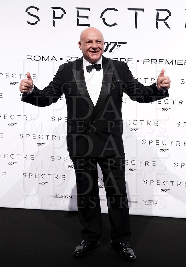 L'attore Giuseppe Lanzetta posa sul red carpet per la premiere del film 'Spectre' a Roma, 27 ottobre 2015 .<br /> Italian actor Giuseppe Lanzetta poses on the red carpet for the premiere of the movie 'Spectre' premiere in Rome, 27 October 2015 .<br /> UPDATE IMAGES PRESS/Isabella Bonotto