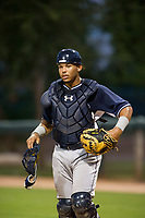 AZL Padres catcher Luis Campusano (29) on defense against the AZL White Sox on July 31, 2017 at Camelback Ranch in Glendale, Arizona. AZL White Sox defeated the AZL Padres 2-1. (Zachary Lucy/Four Seam Images)