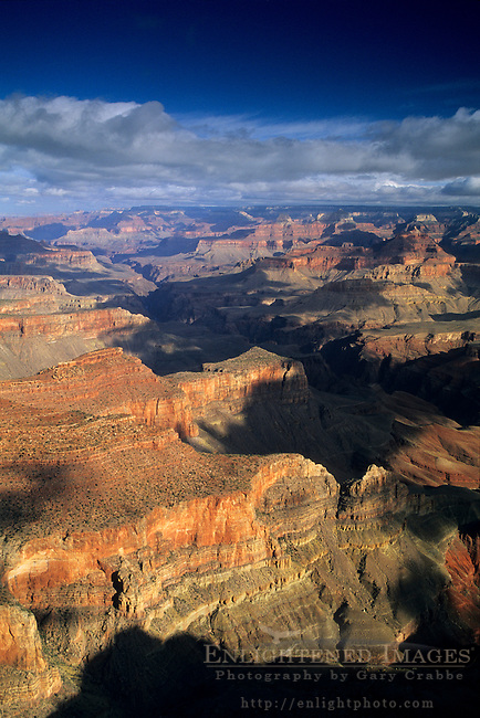 Morning clouds gather over the Grand Canyon, Grand Canyon National Park, Arizona