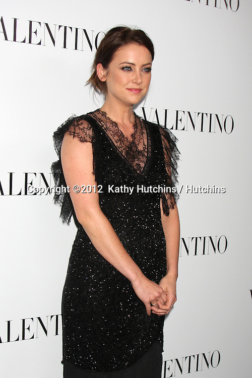 LOS ANGELES - MAR 27:  Jessica Stroup Valentino Beverly Hills Opening at the Valentino Store on March 27, 2012 in Beverly Hills, CA