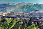 Mountop removal coal mining, Elk Valley, B.C.