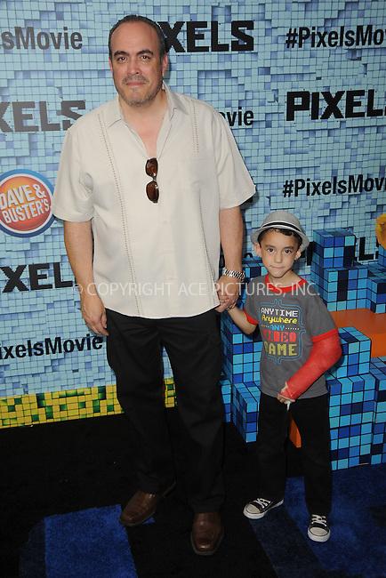 WWW.ACEPIXS.COM<br /> July 18, 2015 New York City<br /> <br /> David Zayas attending the 'Pixels' Premiere at Regal E-Walk on July 18, 2015 in New York City.<br /> <br /> Please byline: Kristin Callahan/ACE <br /> <br /> <br /> Tel: (646) 769 0430<br /> e-mail: info@acepixs.com<br /> web: http://www.acepixs.com